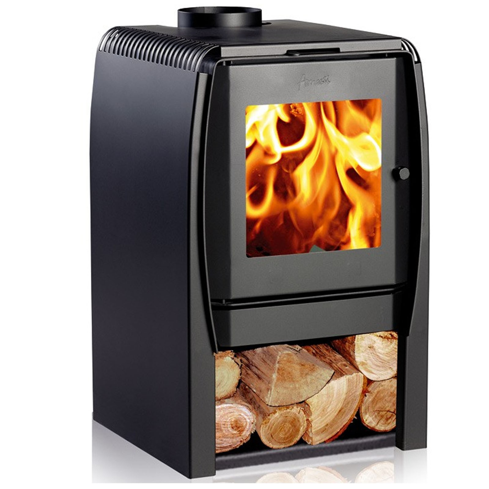 Unbeatable UK Prices | Amesti Nordic 380 Wood Burning Stove | Free ...