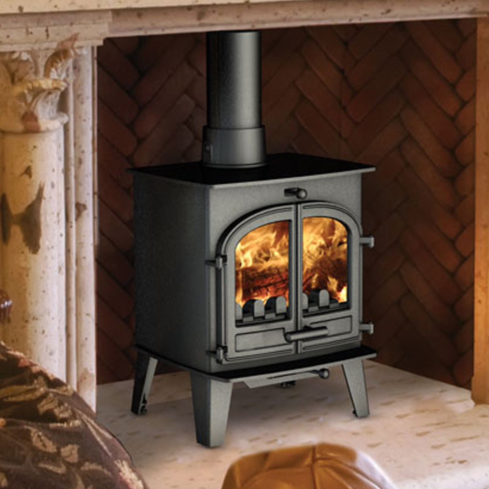 Free delivery cleanburn lovenholm traditional multifuel Wood burning stoves