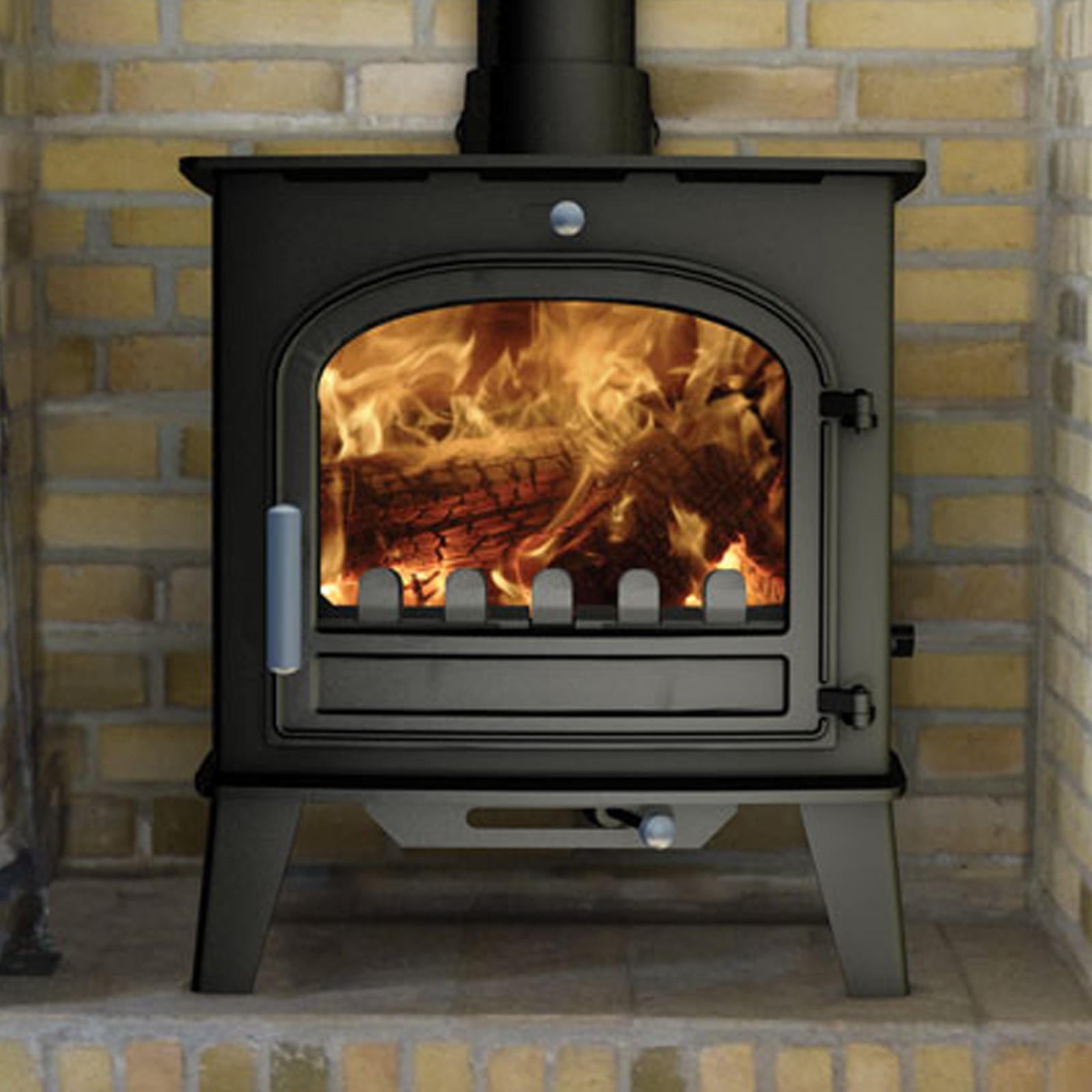 Top Quality Cleanburn Norreskoven Mk2 Traditional Multifuel Woodburning Stove Speedy Delivery