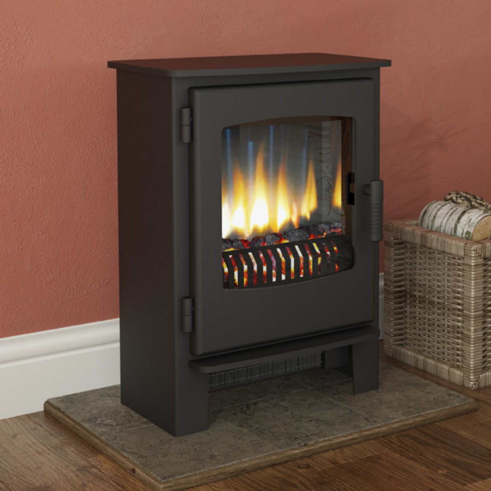 Contemporary Fire Broseley York Grande Stove Free Delivery