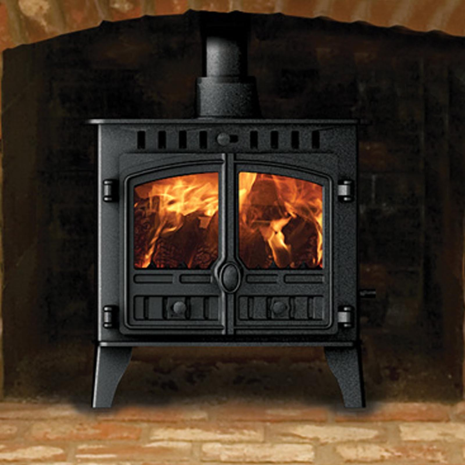 Best uk prices hunter herald 5 slimline multi fuel wood for Wood burning stove for screened porch