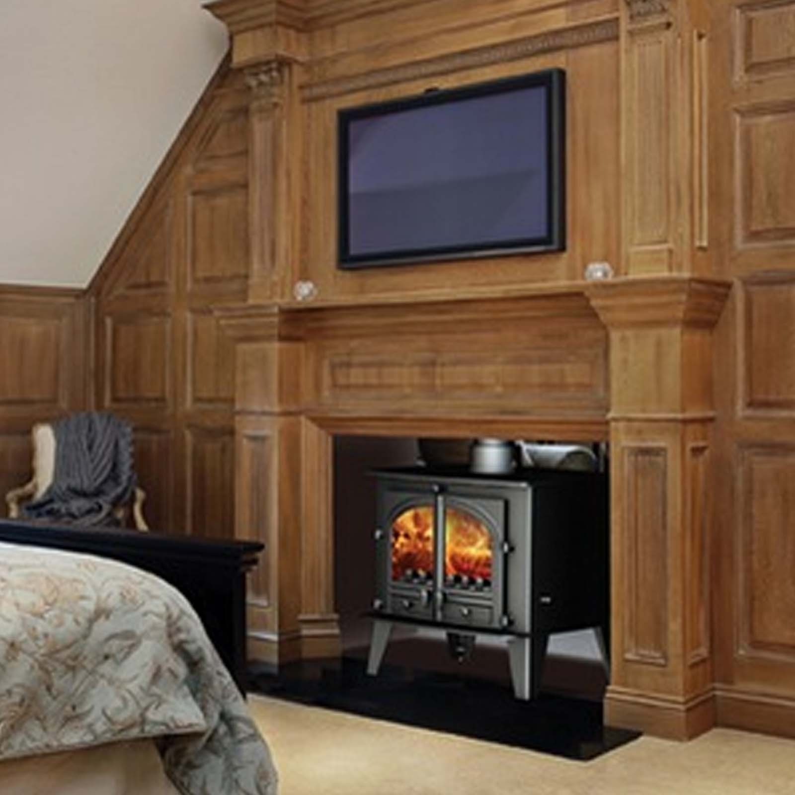 Superb Beauty Parkray Consort 15 Double Sided Woodburning Multifuel Stove Fabulous Design