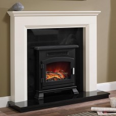 """Be Modern Westerdale 48"""" Timber Fireplace Suite"""