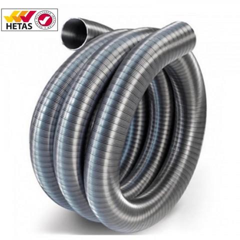"""Flexible Stainless Steel 125mm (5"""") 316/316 Grade Flue Liner"""