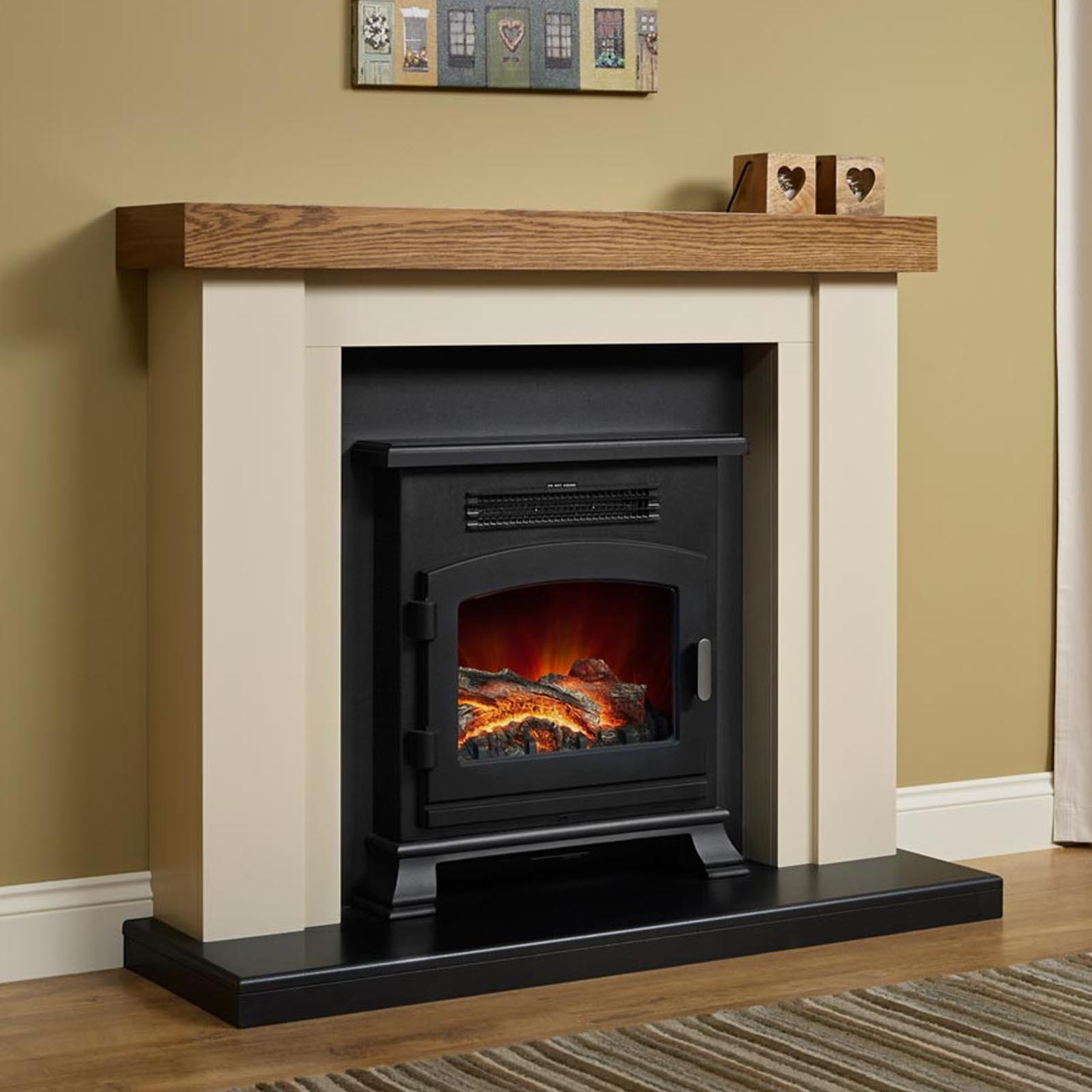 Free Delivery Elgin Hall Bracken Electric Fireplace Suite
