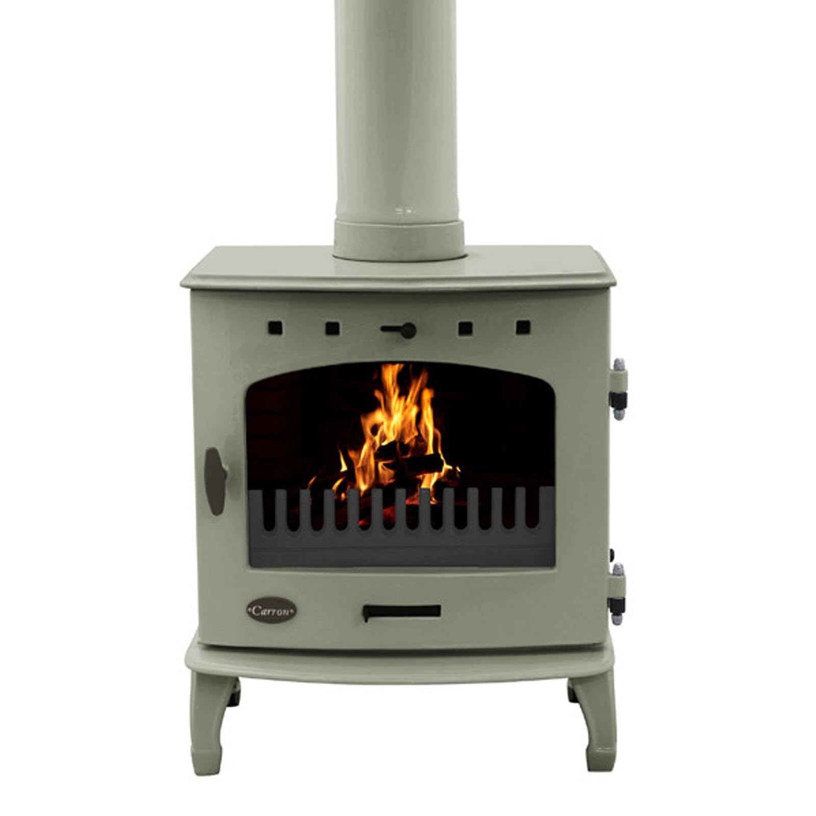 stunning enamel finish carron black enamel 7 3kw woodburning
