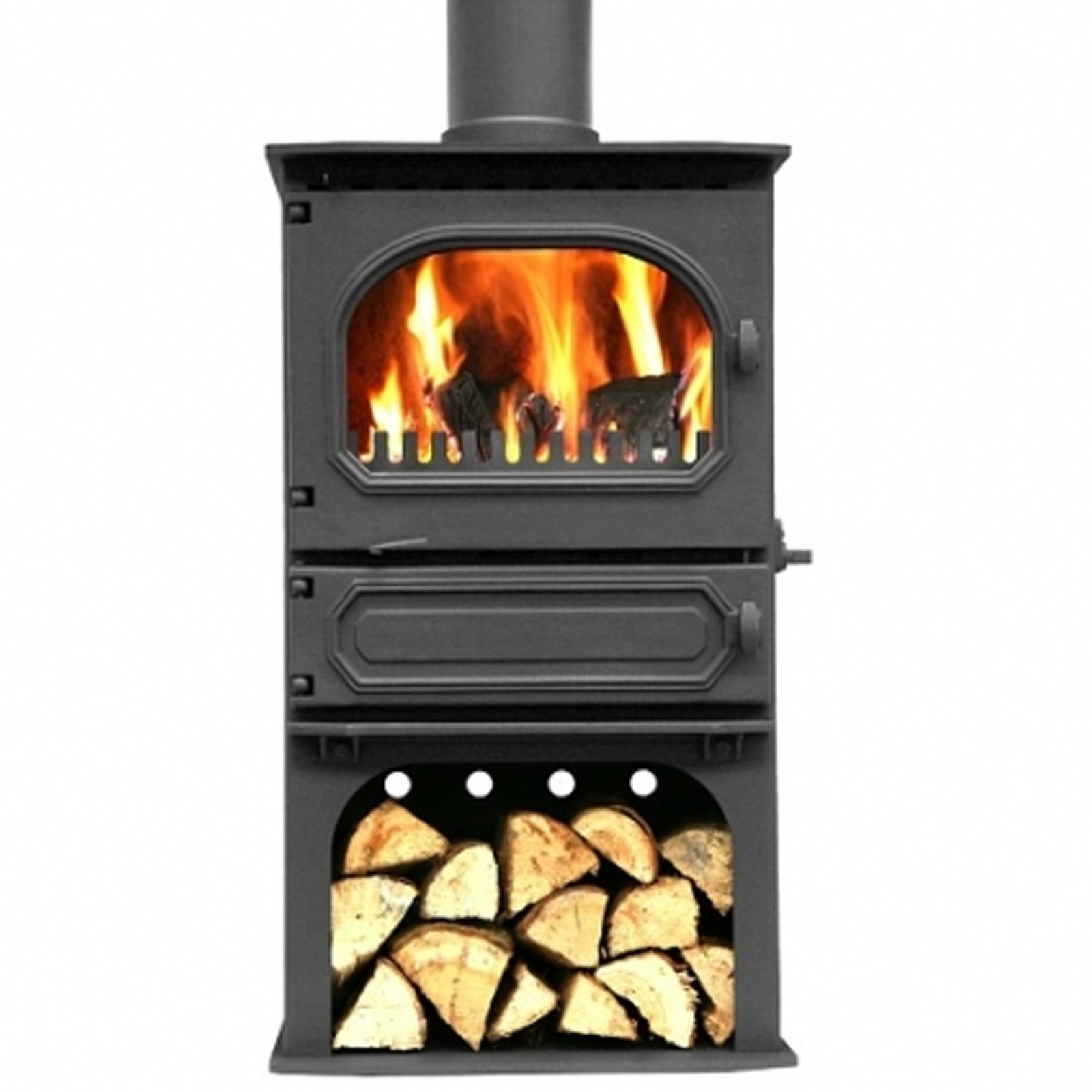 Incredible value dunsley highlander 7 multi fuel for Wood burning stove for screened porch