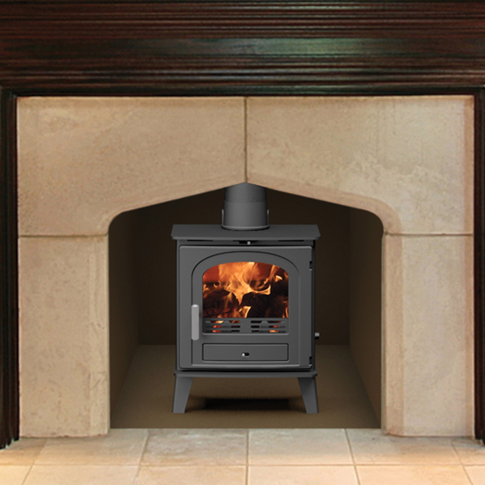 Free Delivery Eco Ideal Eco 1 Multifuel Stove Best Uk