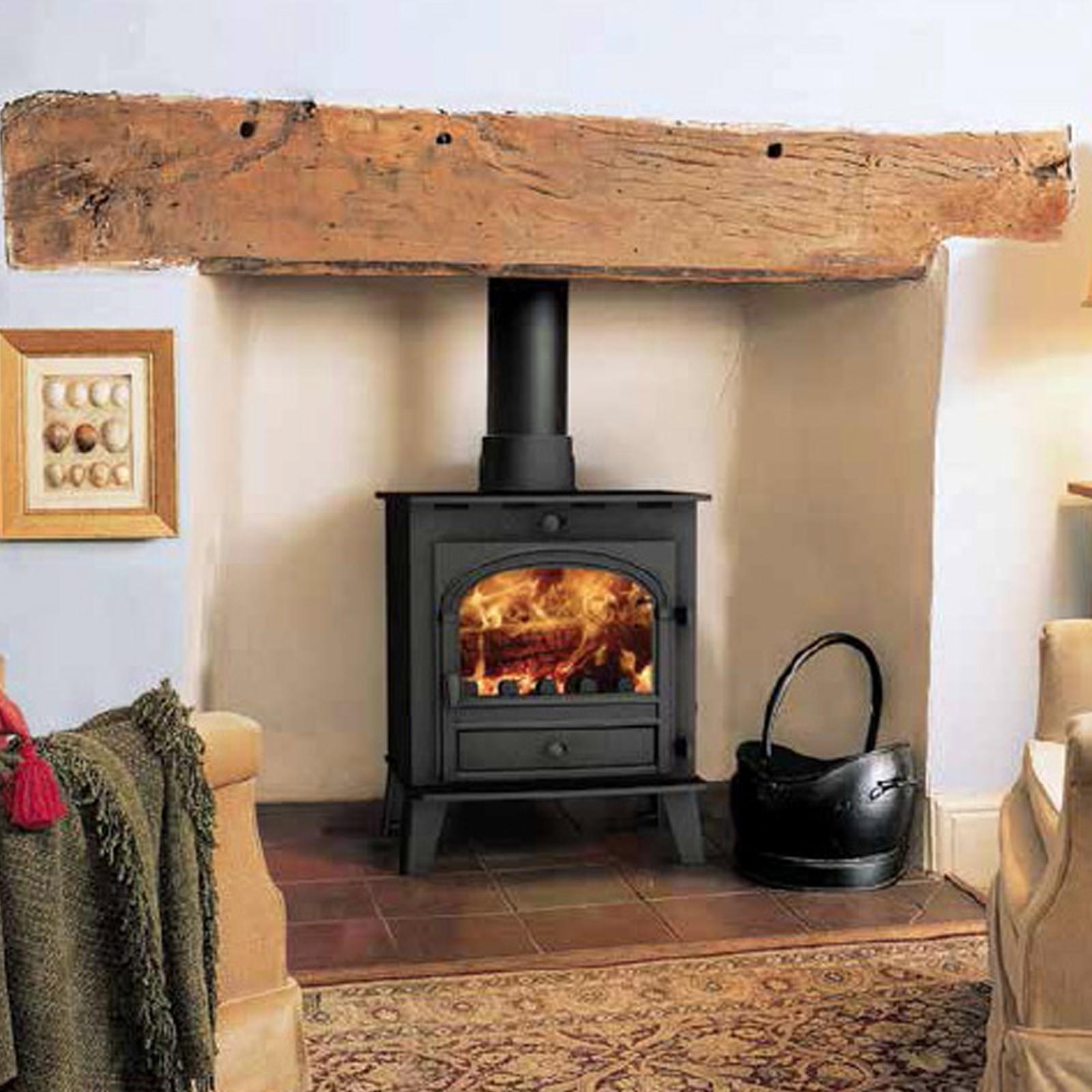 Fast Delivery Parkray Consort 5 Woodburning Multifuel Stove Massive Savings