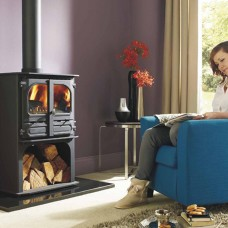 Dunsley Highlander 8 Multi-fuel & Woodburning Log Store Stove