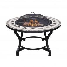 Gardeco Calenta Mosaic Fire Bowl & BBQ